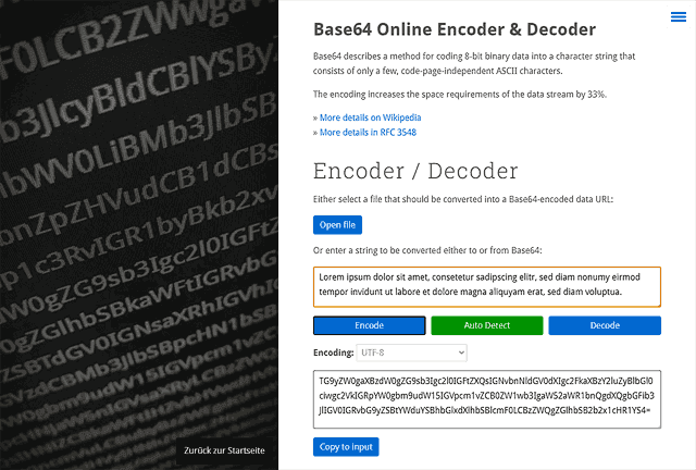 Base64 Online Encoder / Decoder